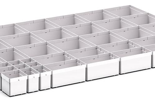 Cubio Plastic Box Divider Kit 40 Comp 925 x 675 x 68mm