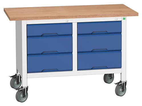 Verso Mobile Storage Bench (Mpx) 1250 x 600 x 830mm