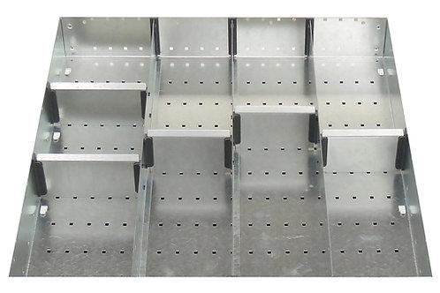 Cubio Adj Metal Divider Kit 9 Comp 525 x 525 x 77mm