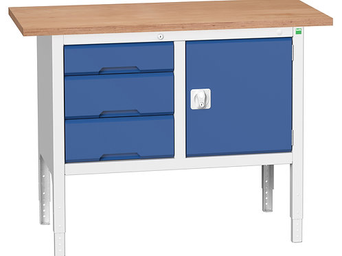 Verso Adj. Height Storage Bench (Mpx) 1250 x 600 x 930mm