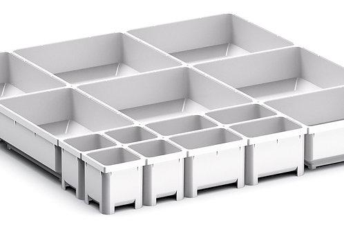 Cubio Plastic Box Divider Kit 15 Comp 400 x 400 x 50mm