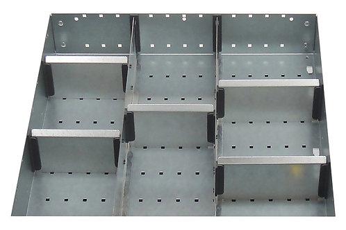 Cubio Adj Metal Divider Kit 8 Comp 400 x 400 x 127mm