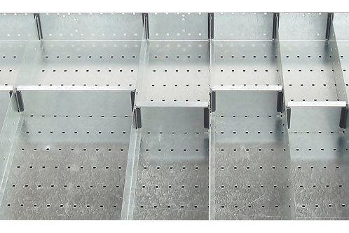 Cubio Adj Metal Divider Kit 14 Comp 1175 x 625 x 77mm
