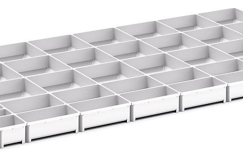 Cubio Plastic Box Divider Kit 50 Comp 1175 x 675 x 50mm