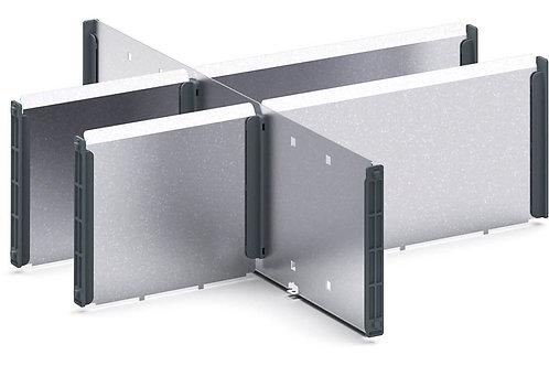 Verso Adjustable Metal Divider Kit 400 x 430 x 127mm