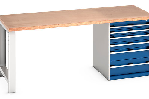 Cubio Pedestal Bench (Multiplex) 2000 x 900 x 840mm