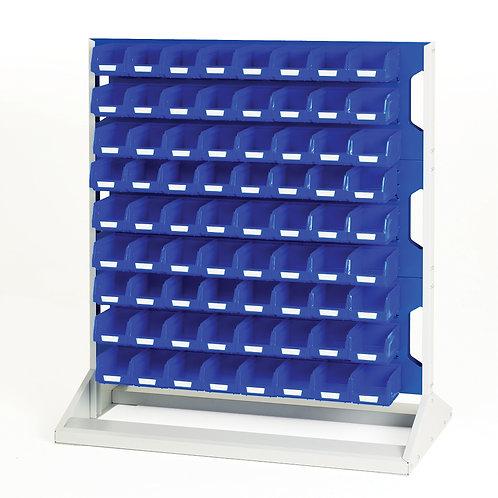 Louvre Panel Rack Single Sided & Bin Kit 1000 x 550 x 1125mm
