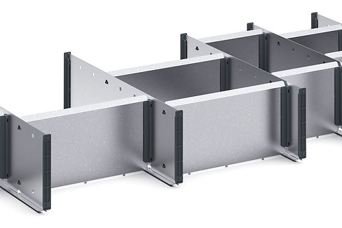 Cubio Adj Metal Divider Kit 16 Comp 1175 x 400 x 127mm