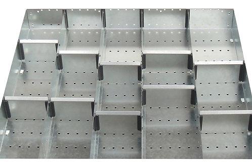Cubio Adj Metal Divider Kit 15 Comp 675 x 625 x 52mm