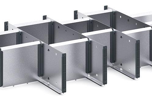 Cubio Adj Metal Divider Kit 15 Comp 675 x 400 x 127mm