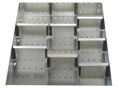 Cubio Adj Metal Divider Kit 10 Comp 400 x 525 x 77mm