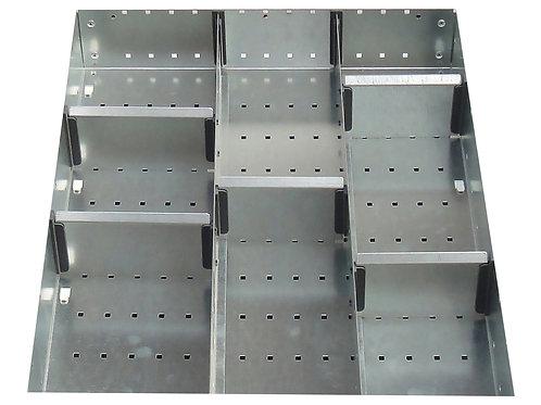 Cubio Adj Metal Divider Kit 8 Comp 400 x 525 x 77mm