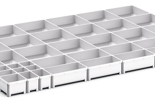 Cubio Plastic Box Divider Kit 40 Comp 925 x 675 x 50mm