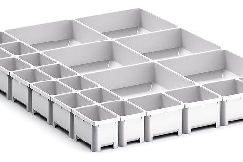 Cubio Plastic Box Divider Kit 24 Comp 400 x 525 x 50mm