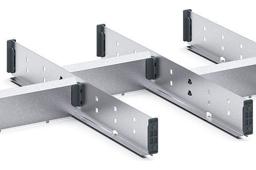 Cubio Adj Metal Divider Kit 7 Comp 675 x 400 x 52mm