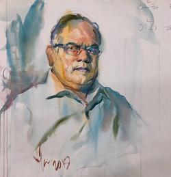 TONAPE, Chieftain, watercolor on paper,