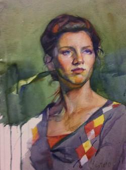 TONAPE, Liz, 2010, watercolor on paper,