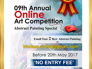BINDAAS ARTIST GROUP  going to organized 09th Annual Online Art competition & Exhibition