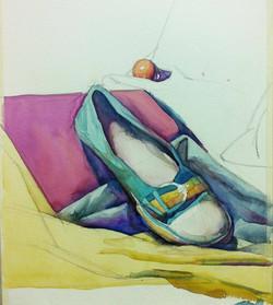 TONAPE, Her Shoe, 2011, watercolor on pa
