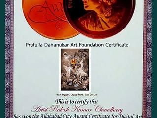 award for Digital painting :Prafulla Dahanukar Art Foundation (PDAF)