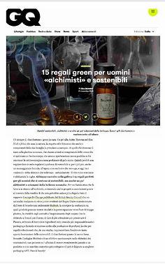 GQ ITALIA Philosophia Botanica Skincare.