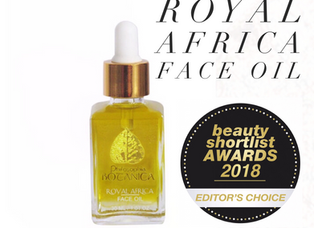 Our Royal Africa Face Oil has won anAward!