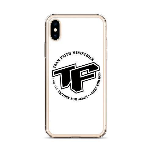 iPhone Case - TF with Slogan logo - White