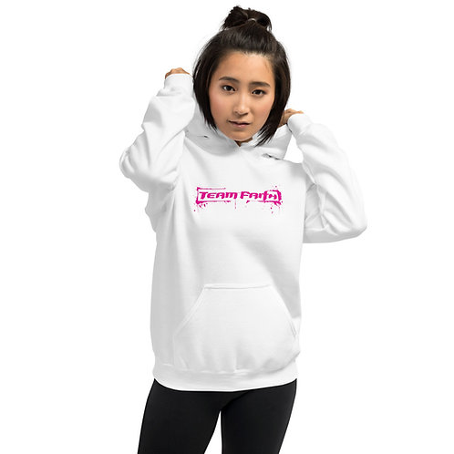 Unisex Pink Splatter Logo Hoodie