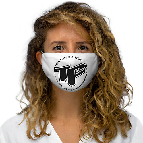 TF with Slogan Logo Snug-Fit Polyester Face Mask