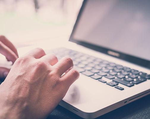 typing, computer, hands,