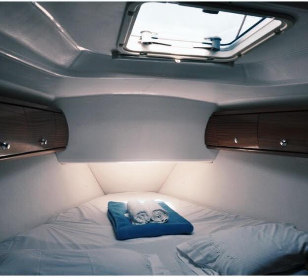 Bedroom aboard the yatch