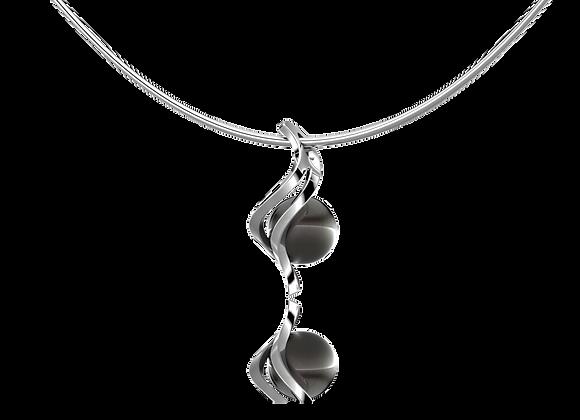 Pendentif vrille or et perle