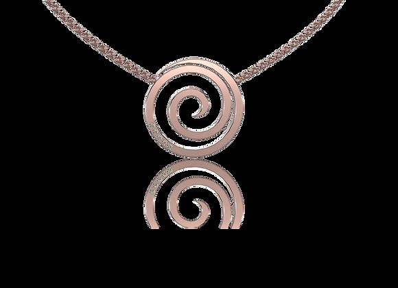 Collier spirale or et diamants