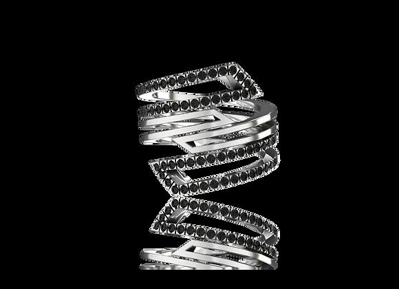 Bague D-kal or et diamant noirs