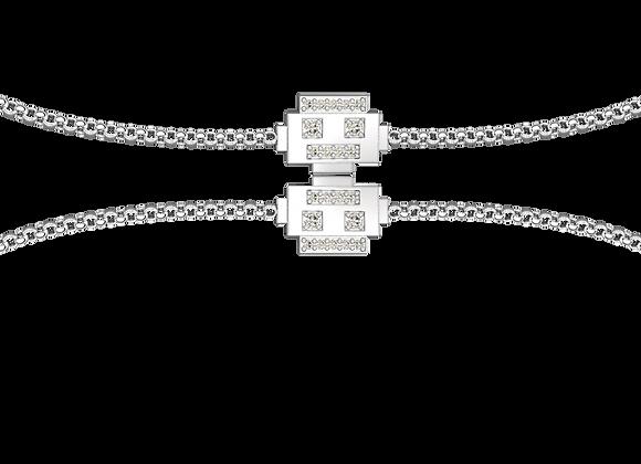 Bracelet robot argent rhodié