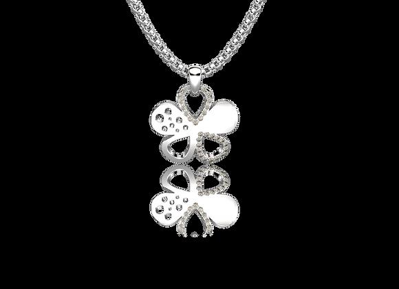 Pendentif fleur or et diamants