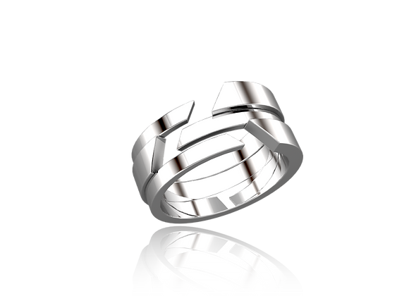 Bague M-tal or triples