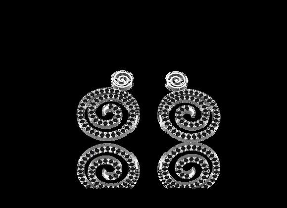 Boucles d'oreilles or et diamants noirs