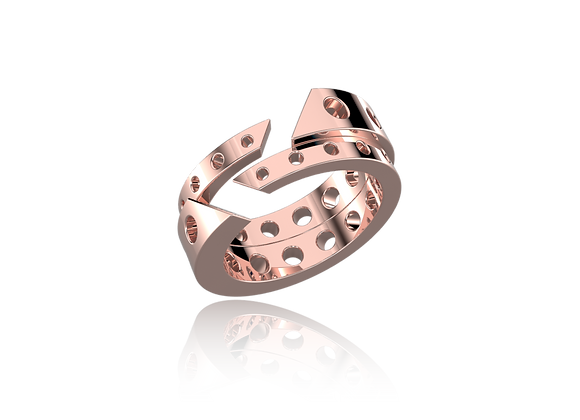 Bague M-tal or double