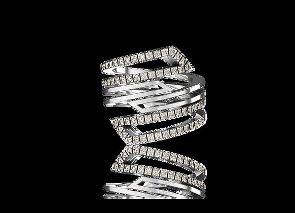 Bague D-kal or et diamants