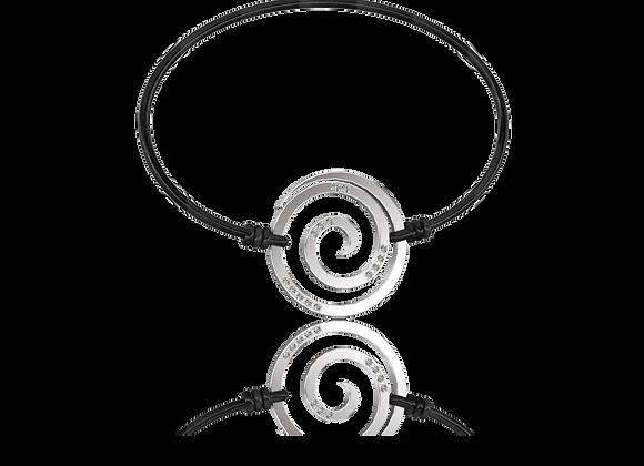 Bracelet spirale or et diamants