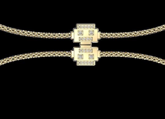 Bracelet robot or et diamants