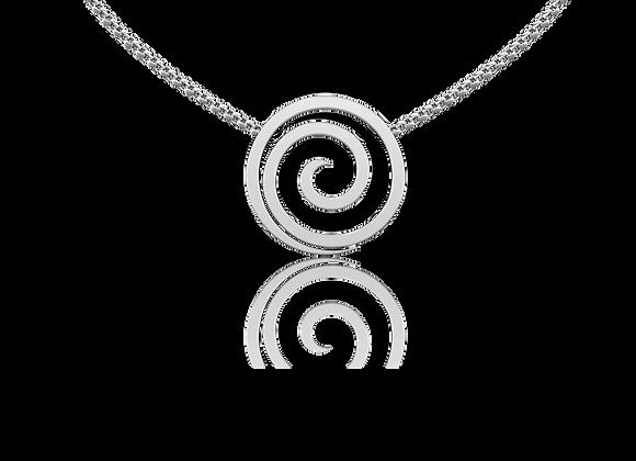 Collier spirale argent rhodié