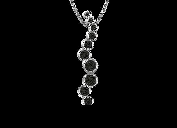 Pendentif or et diamants noirs