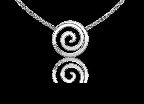 Collier spirale argent rhodié et oxydes