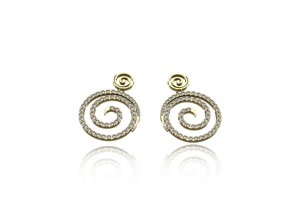 Boucles d'oreilles or et diamants