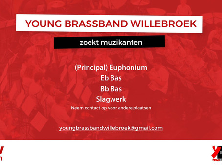 Young Brassband Willebroek werft aan!