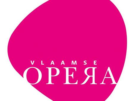 Musicians Brass Band Willebroek at work in Flemish Opera