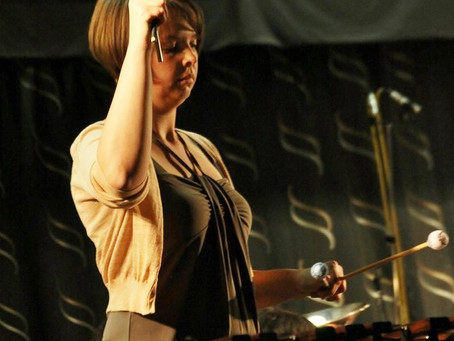 Kelly Helsen joins our percussion section again