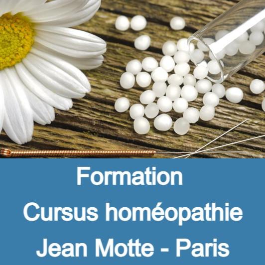 Cursus Homéopathie Jean Motte